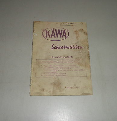 08/1951 Other Tractor Publications Tractor Manuals & Publications Parts Catalog/spare Parts List Kawa Grist