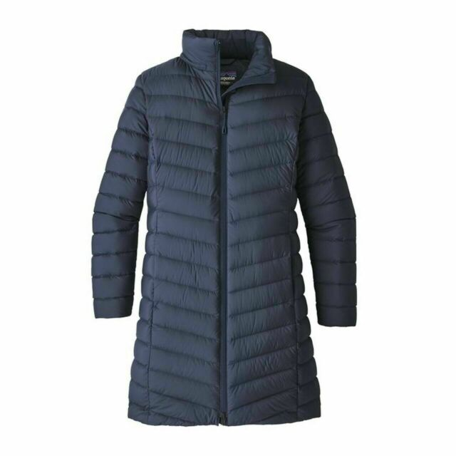 NEW NWT PATAGONIA Women's Silent Down Hooded Parka Navy ...