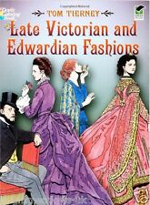 Victorian Edwardian Fashions Adult Colouring Book Creative Gift Dresses Pretty