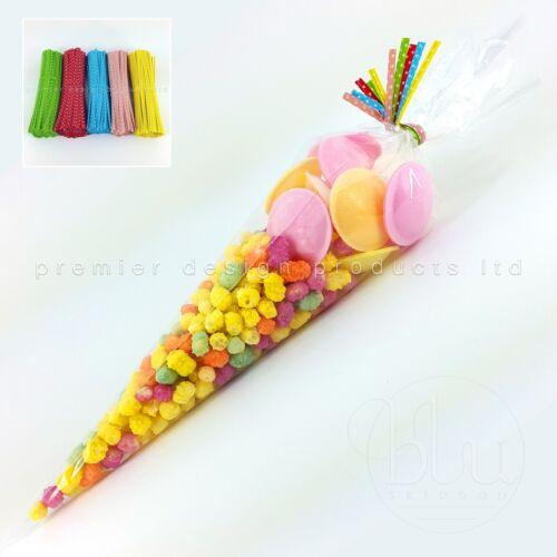 Sacs cône de cellophane clair grand-Sweet Candy Kids Party faveur cônes violoncelle