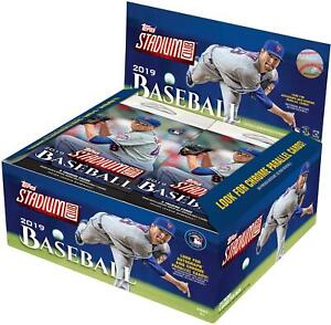 2019-Topps-Stadium-Club-Baseball-Factory-Sealed-24-Pack-Retail-Box