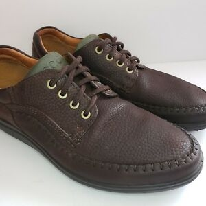 ecco mens 45 us11115 brown leather casual walking