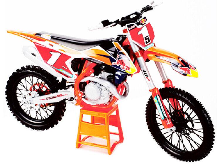 Maisto 1 6 Ryan Dungey  1 KTM 450 SX-F Dirt Bike Modelo 32227BD rojo Bull Racing