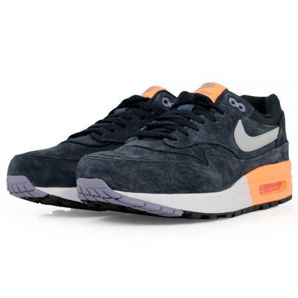 Nike Mens Dark Air Max Premium 1 Dark Mens Obsidian Navy Suede Trainer 512033 400 af57c9