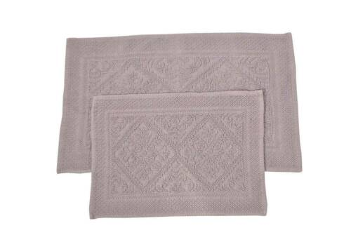 "Luxurious 100/% Cotton Hand Woven 2pc Bath Rug Set 21/""x34/""//17/""x24/"" JBR4"
