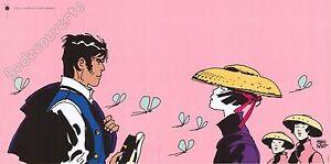 Affiche-Hugo-Pratt-Corto-Maltese-Il-faut-se-garder-de-certaines-femmes-50x100-cm