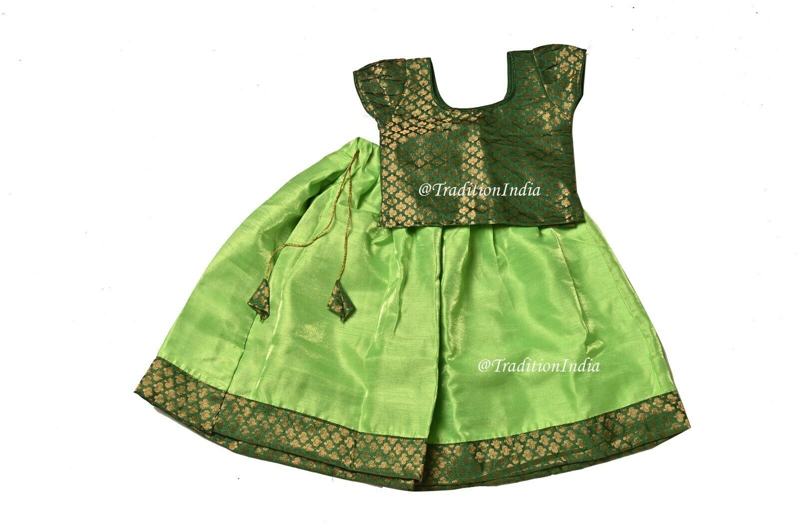 South Indian Pavadai, Readymade Kids Dress, Festive Wear, Baby Girl Lehenga