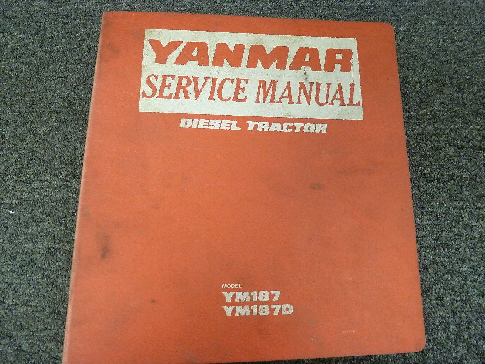 Yanmar Ym187 YM 187d Service Manual