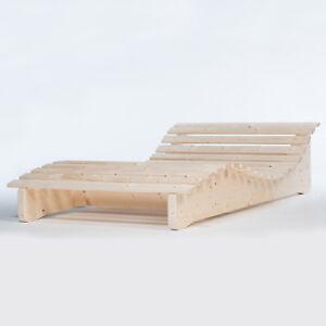Massivholzliege-Himmelsliege-Waldsofa-Relaxliege-Holzliege-Gartenliege-Liege