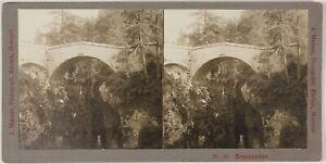 Suisse Grigioni Pont Foto Stereo Johannes Meiner Zurigo Vintage Platino