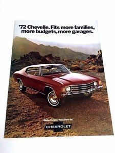 CHEVELLE SS 1972 Sales Brochure 72