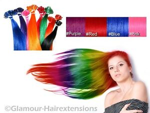 TOP-Fancy-Color-REMY-Echthaar-Keratinbondings-Extensions-Haarverlaengerung-55cm