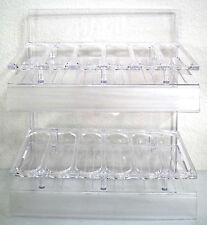 OPI CLEAR ACRYLIC PLASTIC NAIL POLISH DISPLAY RACK ~holds 36 polish bottles *NEW