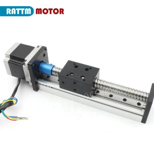 1605 100mm Precision Ballscrew Linear Slide Stroke Z Axis+Stepper Motor CNC Kit
