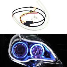 2x 60cm Tagfahrlicht LED Lampen Flexible Angel Eyes White & Yellow Blinkleuchten