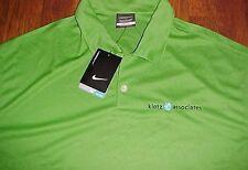 Klotz Associates Houston Texas Nike Dri-Fit Green Men's Golf Polo Shirt 2XL New