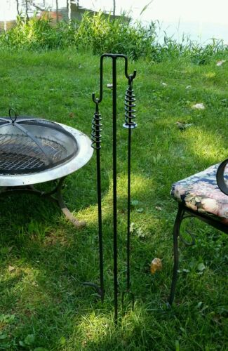 """Campfire Hotdog Stick//Roaster @ 31/"""" Made in US by a Blacksmith-FREE SHIPPING"""