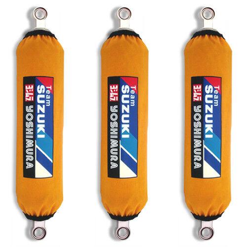 Yellow Suzuki Racing Shock Covers QuadRacer LT R450 LTR 450 NEW Set of 3