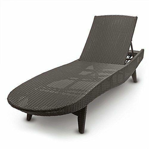 Resin Wicker Chaise Lounge, Mocha Brown for sale online | eBay