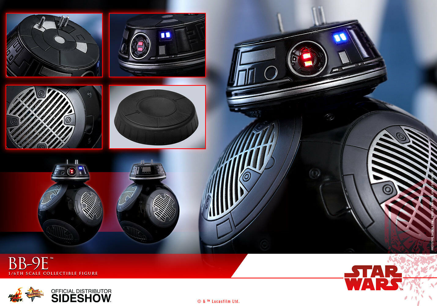 Hot Toys Star Wars: The Last Jedi BB-9E Action Figure 1/6 Scale MMS441