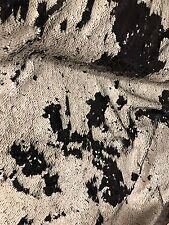"""BEIGE BLACK MERMAID REVERSIBLE STRETCH SEQUINS FABRIC 50"""" WIDE 1 YARD"""