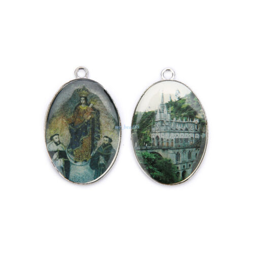 Catholic Religious Enamel Medals Charms  Pendants Holy Painting 40mm 10Pcs