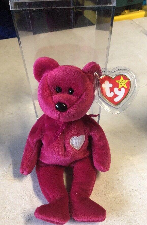 Ty beanie baby valentina bär 19981999 fehler mütze mit fall guten zustand.
