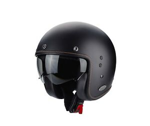 Scorpion-Belfast-Jethelm-Moto-Scooter-Chopper-avec-Pare-Soleil-Noir-Mat