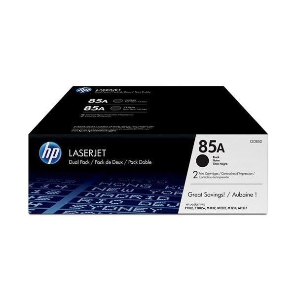HP 85A Genuine Toner 1,600 Pages/Cartridge Black - 2 Pack