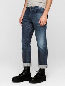 ad2b1e122f0a84 Calvin Klein CK Italian Stretch Selvedge Mens Slim Straight Jeans ...