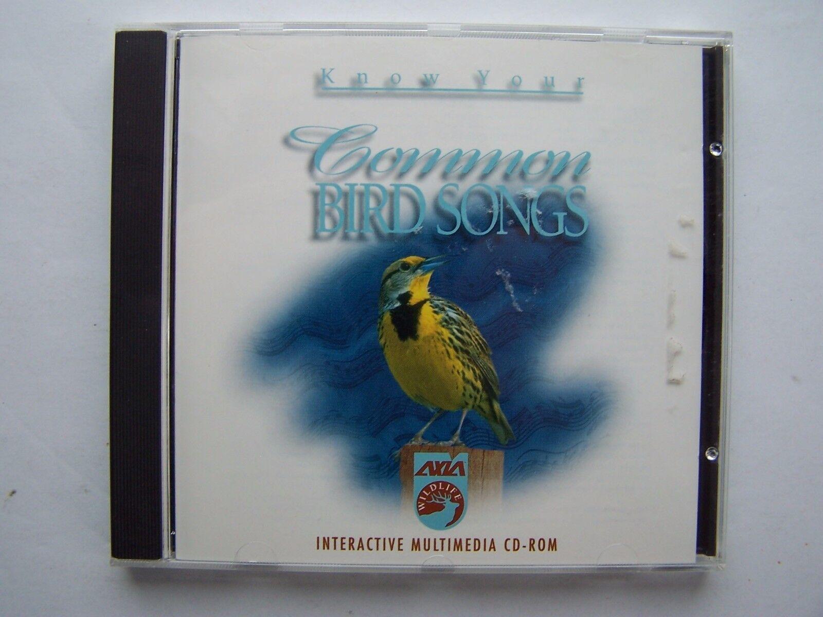 Know Your Common Bird Songs PC CDROM