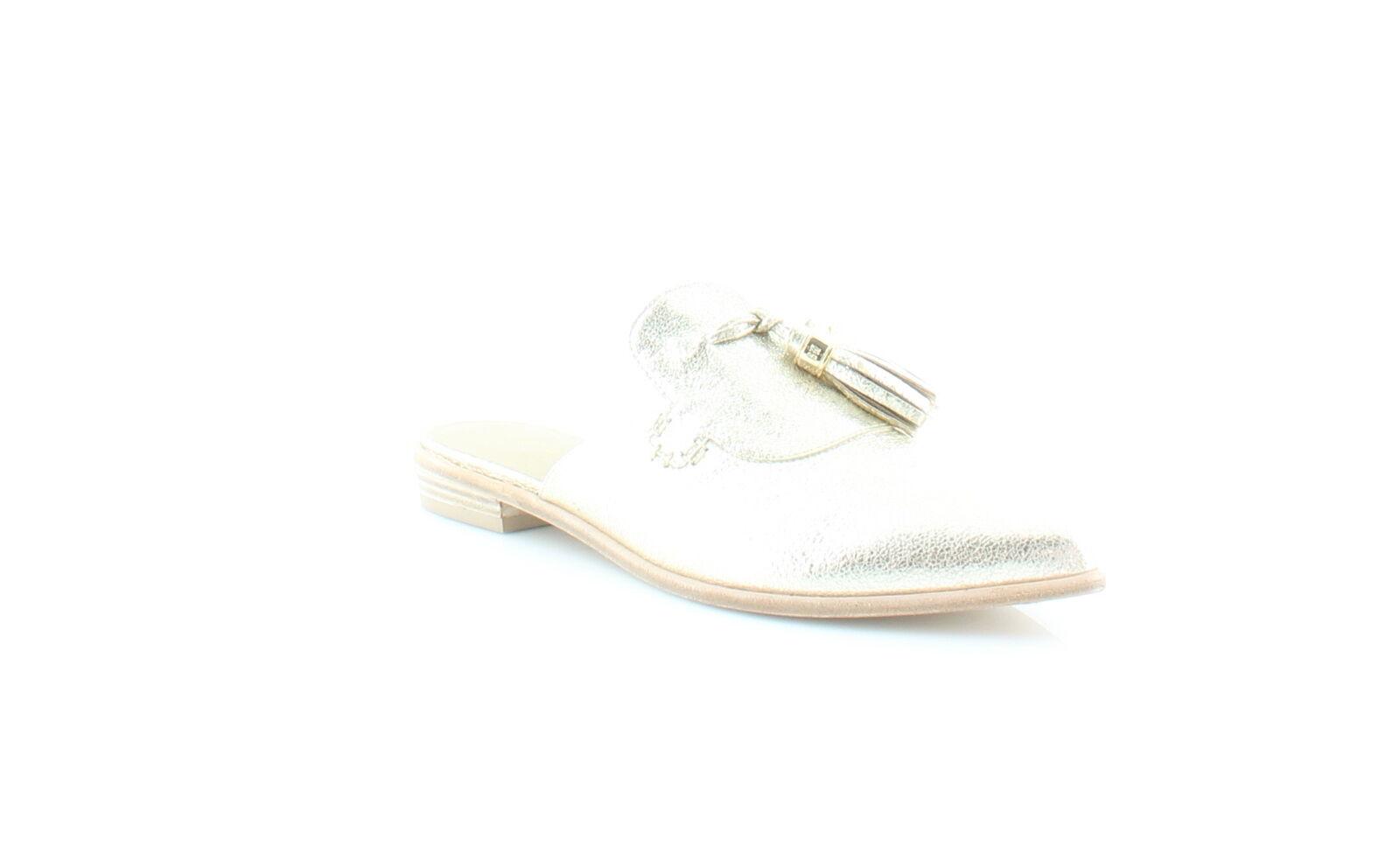 Stuart Weitzman New Slidealong gold Womens shoes Size 8 M Flats MSRP  425