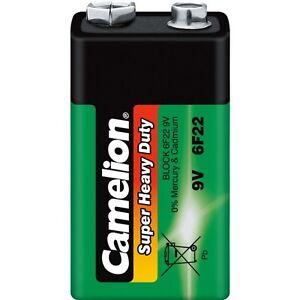 Pile-Zinc-Carbone-Verte-Camelion-9V-6F22-2-blisters-achetes-1-offert