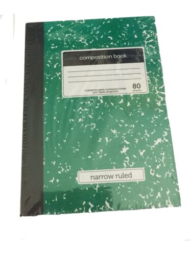 """Green Mini Marble Composition Book Fits 18/"""" American Girl Doll"""