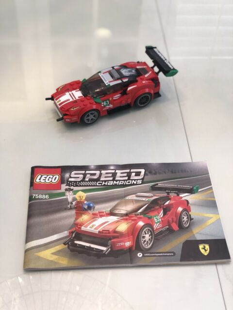 "Pre Owned LEGO Speed Champions Ferrari 488 GT3 ""Scuderia Corsa"" 75886 W/ Manual! | eBay"