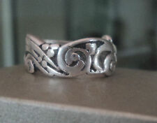 Vintage Sterling Silver Art Nouveau STYLE  Ring   -  Size O