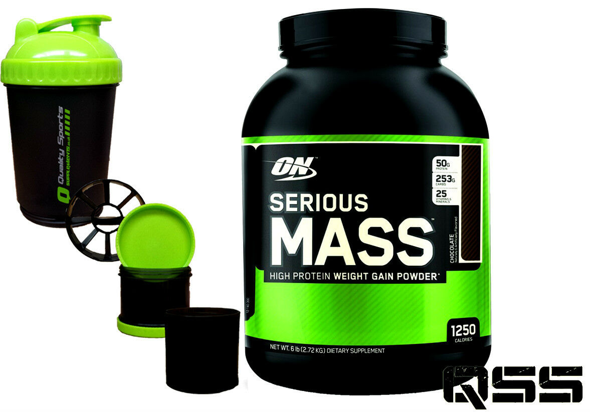 ON OPTIMUM NUTRITION SERIOUS MASS WEIGHT GAINER GAINER WEIGHT PROTEIN SHAKE 12LBS / 6LBS +SMAR 0e08a2