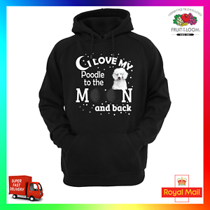 Moon Puppy Pup Back My To Sweat Cute I Dog Love The Pet Hoody Poodle amp; Hoodie waXqUaxpS