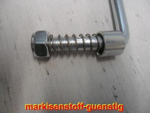 Zurrbügel M12 verzin LH 65 mm LW 62 mm mit 2 M12 Stoppmuttern Feder Hülse L4877