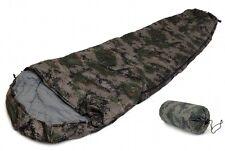SLEEPING BAG MUMMY 8' DIGITAL CAMOUFLAGE Army Cammo 20+ Degrees F  Case NEW