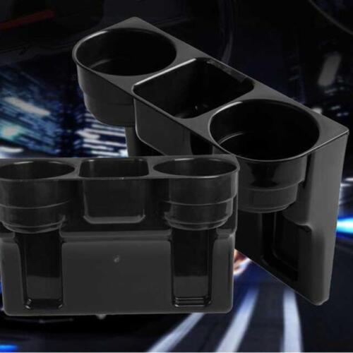 Black 2 Cup Holder Drink Beverage Seat wedge Car Auto Truck Universal Mount