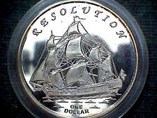 GILBERT ISLANDS KIRIBATI 2014 DOLLAR, RESOLUTION SAILING SHIP FANTASY COIN