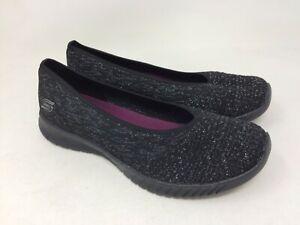 e55756b4134a3 New!! Women's Skechers 23635 WAVE LITE - MY DEAR Black Slip-On Q60 ...