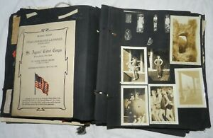 Vintage 1920's Scrapbook with Photos, Clippings, Tickets + ephemera