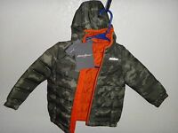 Eddie Bauer Toddler Kid's Boys Girls Camouflage Hooded Jacket Coat Size 2t