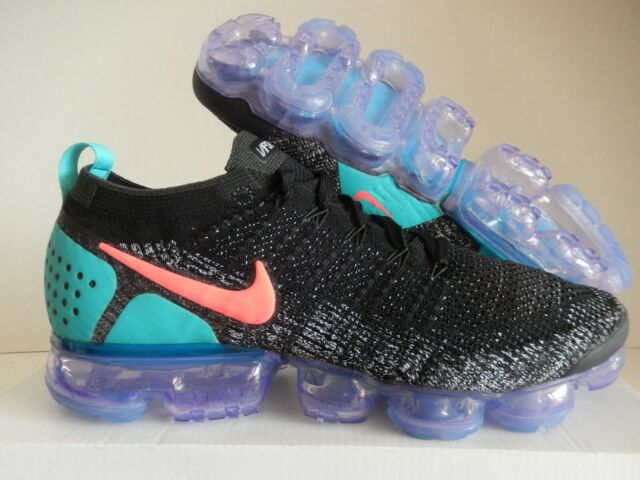 new product 7b536 c8cac Men Nike Air Vapormax Flyknit 2 Black Hot Punch White 942842-003 Size 8-13 8