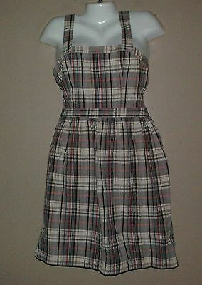 Summer Dress Volcom White Plaid Women size Small New