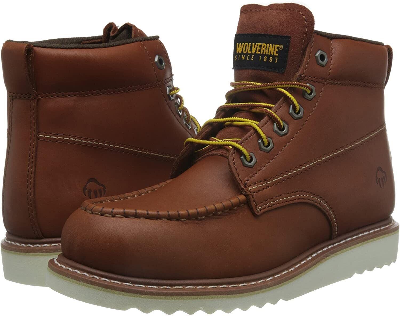 Mens Walverine OIL Resistant Apprentice Tan Work Boots