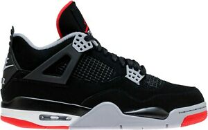 check out 559c6 3929c Image is loading Air-Jordan-4-Bred-Retro-IV-OG-Black-