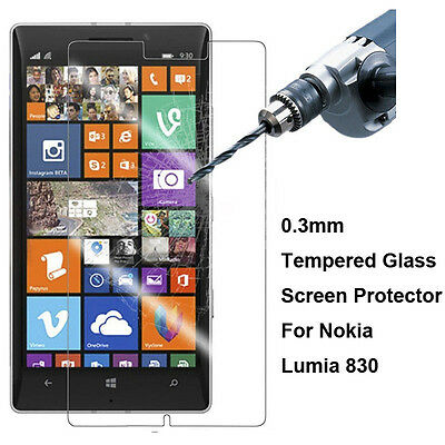 New Premium 9H Real Tempered Glass Screen Protector Film For Nokia Lumia 830
